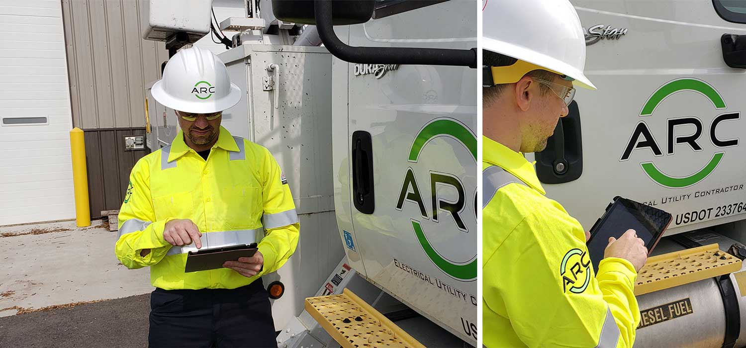 ARC American contractor uses GoFormz mobile forms to capture critical electrical utility data in the field