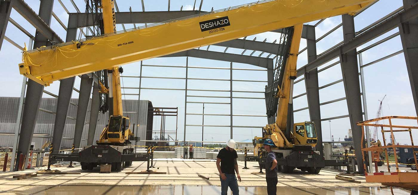 Deshazo Overhead Cranes uses GoFormz mobile forms on their jobsites to get real-time data