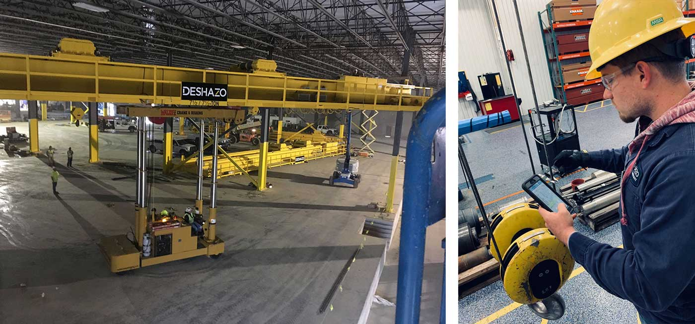 Deshazo Overhead Cranes uses GoFormz mobile forms to empower their company