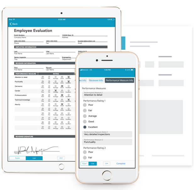 Employee Evaluation Forms on any device