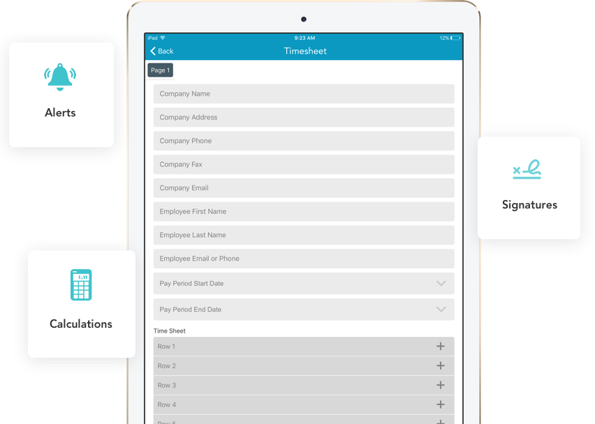 timesheet templates for mobile forms goformz