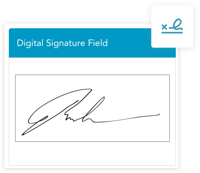 Quicky collect approvals when you include a digital signature box in your mobile inspection forms