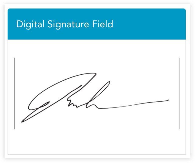 Quicky collect approvals when you include a digital signature box in your employee evaluation forms